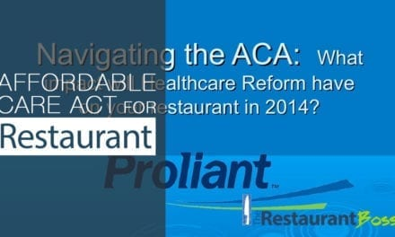 Affordable Care Act for Restaurants