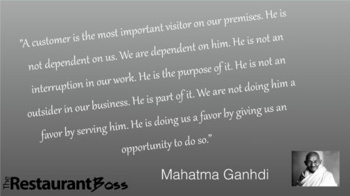 Ghandi Service Quote - The Restaurant Boss