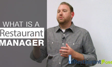 The Role of a Restaurant Manager
