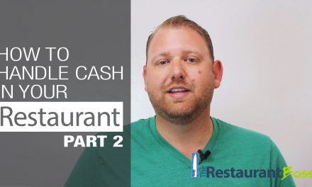How to Handle Cash in your Restaurant – Part 2