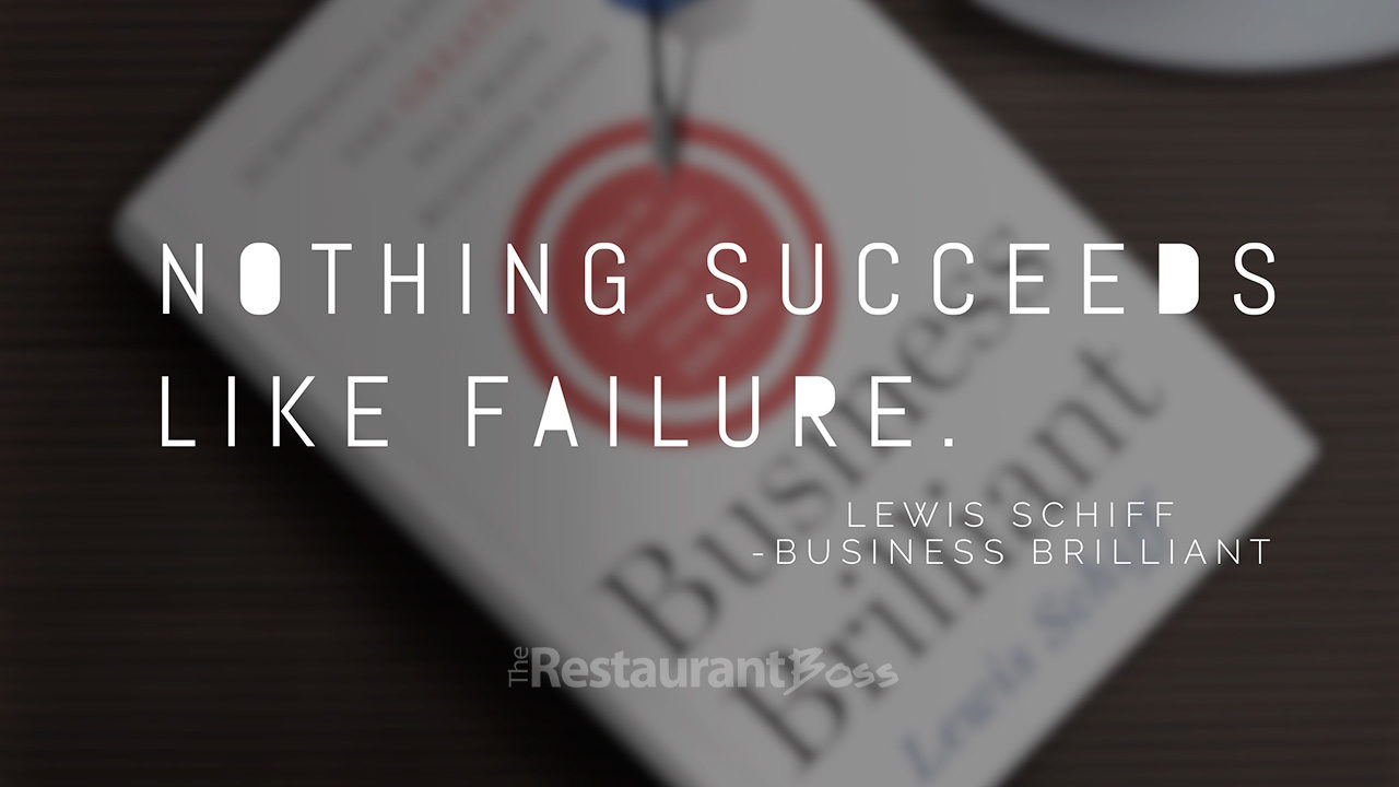"""Nothing succeeds like failure"" – Lewis Schiff"