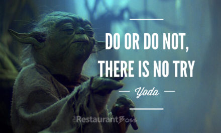 """Do or Do not, there is No Try"". – Yoda"
