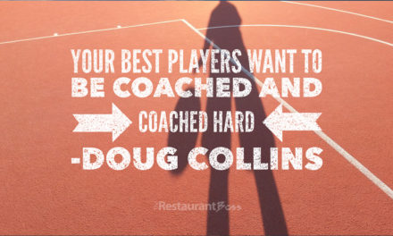 """Your best players want to be coached and coached hard"" – Doug Collins"