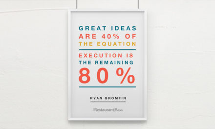 """Great ideas are 40% of the equation, execution is the remaining 80%."" – Ryan Gromfin"