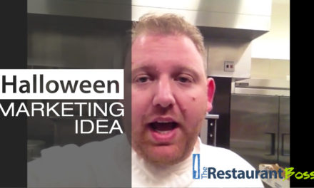 Restaurant Halloween Marketing Idea