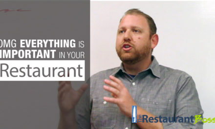OMG Everything is Important in Your Restaurant