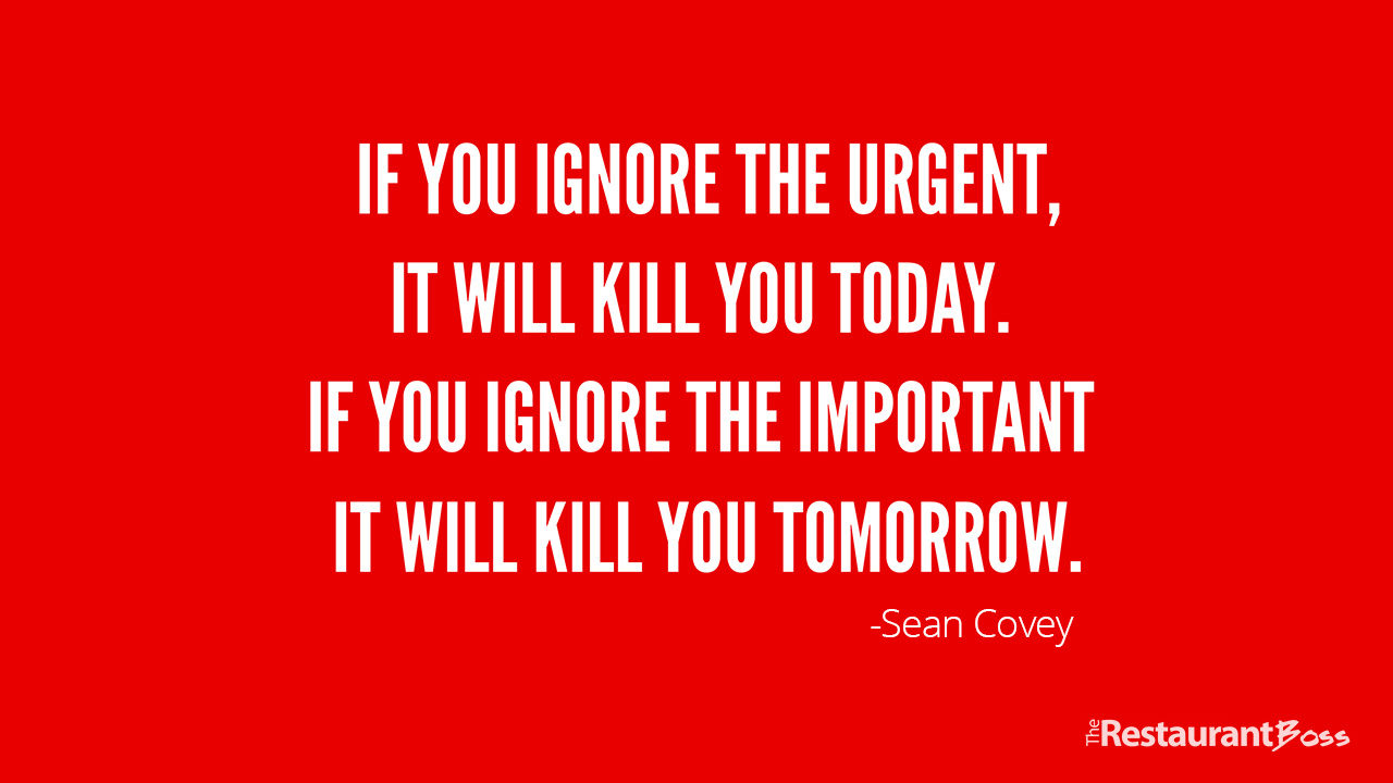 if you ignore the urgent it will kill you today if you ignore the