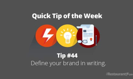 Define your brand in writing.