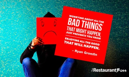 """Worrying about all the bad things that might happen, just prevents you from enjoying all the good that will happen."" Ryan Gromfin"