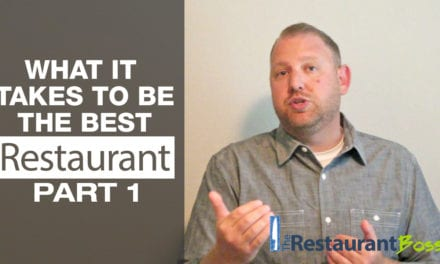 What it Takes to be the Best Restaurant Part 1