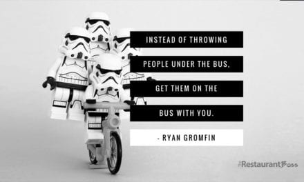 """Instead of throwing people under the bus, get them on the bus with you."" – Ryan Gromfin"