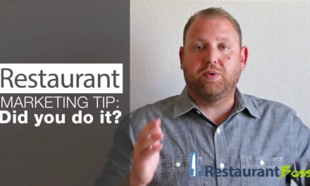 Restaurant Marketing Tip: Did You Do It?