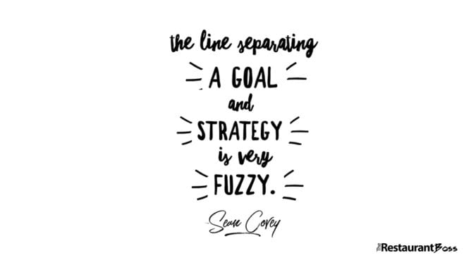 """The Line Separating A Goal And Strategy Is Very Fuzzy."" – Sean Covey"