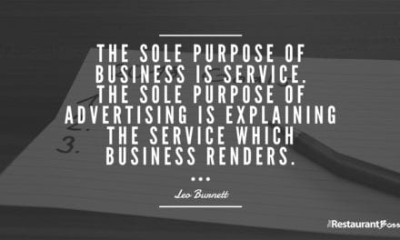 """The sole purpose of business is service. The sole purpose of advertising is explaining the service which business renders."" -Leo Burnett"