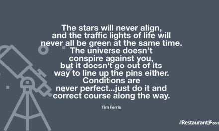 """The stars will never align, and the traffic lights of life will never all be green at the same time. The universe doesn't conspire against you, but it doesn't go out of its way to line up the pins either. Conditions are never perfect…just do it and correct course along the way."" – Tim Ferris"