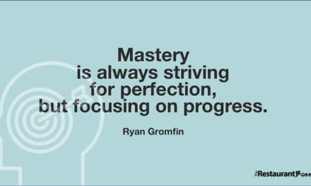 """Mastery is always striving for perfection, but focusing on progress."" – Ryan Gromfin"