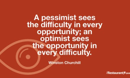 """A pessimist sees the difficulty in every opportunity; an optimist sees the opportunity in every difficulty."" – Winston Churchill"