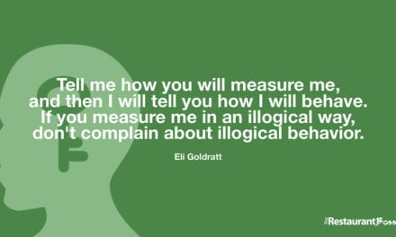 """Tell me how you will measure me, and then I will tell you how I will behave. If you measure me in an illogical way, don't complain about illogical behavior."" – Eli Goldratt"