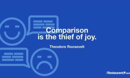 """Comparison is the thief of joy."" – Theodore Roosevelt"
