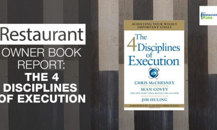 Restaurant Owner Book Report: The 4 Disciplines of Execution