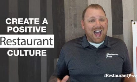 Create a Positive Restaurant Culture