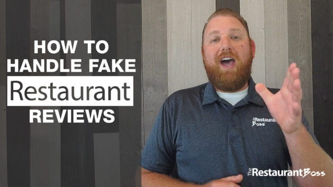 How to Handle Fake Restaurant Reviews