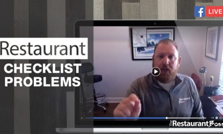 Restaurant Checklist Problems