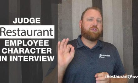 Judge Restaurant Employee Character in Interview