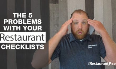 The 5 Problems with Your Restaurant Checklists
