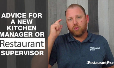 Advice for a new Kitchen Manager or Restaurant Supervisor