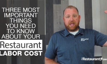 Three Most Important Things You Need to Know About Your Restaurant Labor Cost