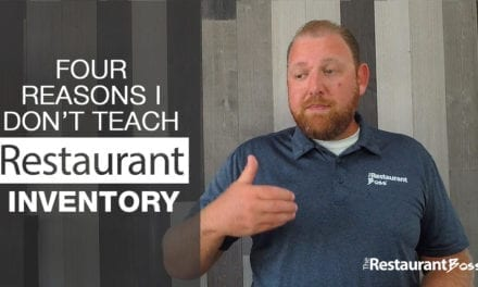 Four Reasons I Don't Teach Restaurant Inventory
