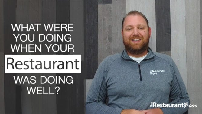 What Were You Doing When Your Restaurant Was Doing Well?