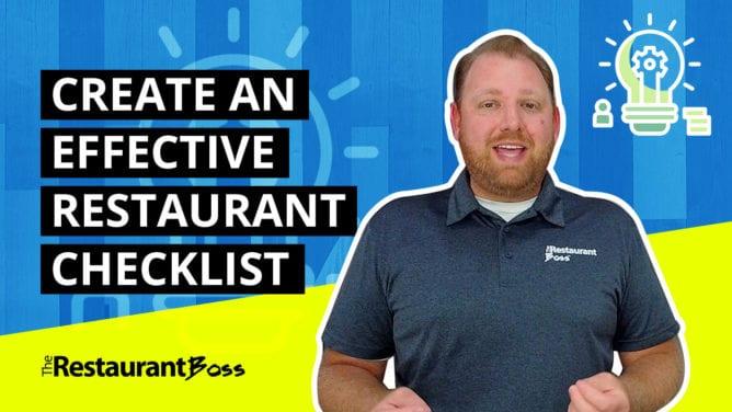 How to Create an Effective Restaurant Checklist